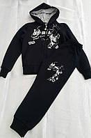Турецкий спортивный костюм на мальчиков 104,110,116,122 роста Кроксы Синий