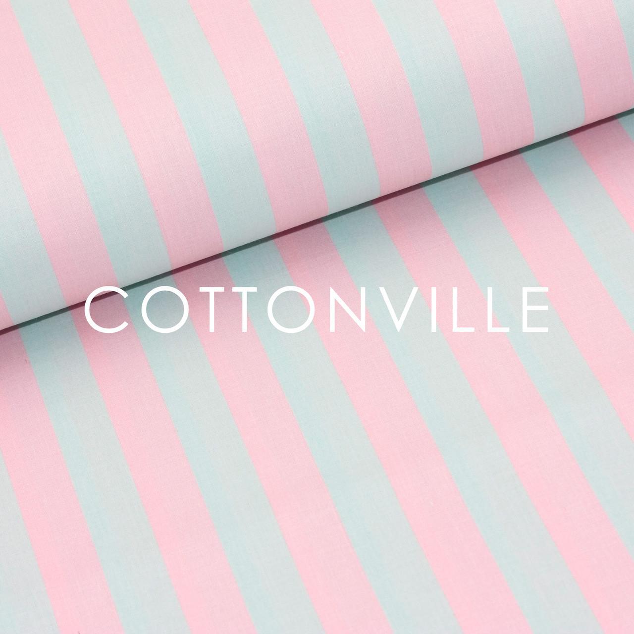 f2611529632e Отрез Бязь Полосы мятно-розовые 37х160 см: ткани для домашнего ...