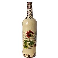 Керам. бутылка-30*9см герань