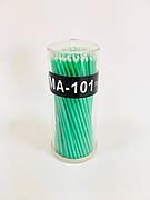 Микробраши / аппликаторы для наращивания ресниц, 100 шт. 2 мм (зеленый)