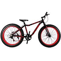 🚲Горный алюминиевый велосипед ФЭТБАЙК (Fatbike) TITAN STALKER; рама 17; колеса 26