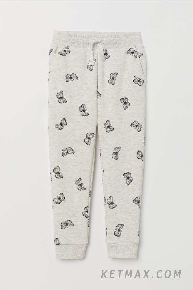 Трикотажные джоггеры на микрофлисе H&M для девочки