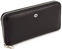 Черный женский кошелек большого размера ST Leather из Турции