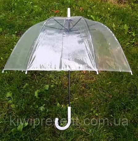 Прозрачный зонт-трость (купол), фото 2