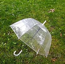 Прозрачный зонт-трость (купол), фото 3
