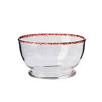 Салатница handmade с красным ободком