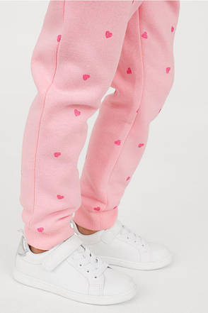Трикотажные джоггеры на микрофлисе H&M для девочки, фото 2