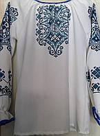 Заготовка сорочки (пошита) ''Синій орнамент''