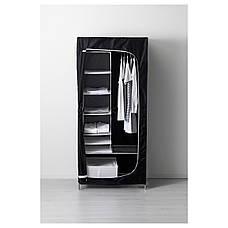 БРЕЙМ Гардероб, черный, 80x55x180 см, 30288953, ИКЕА IKEA, BREIM, фото 2