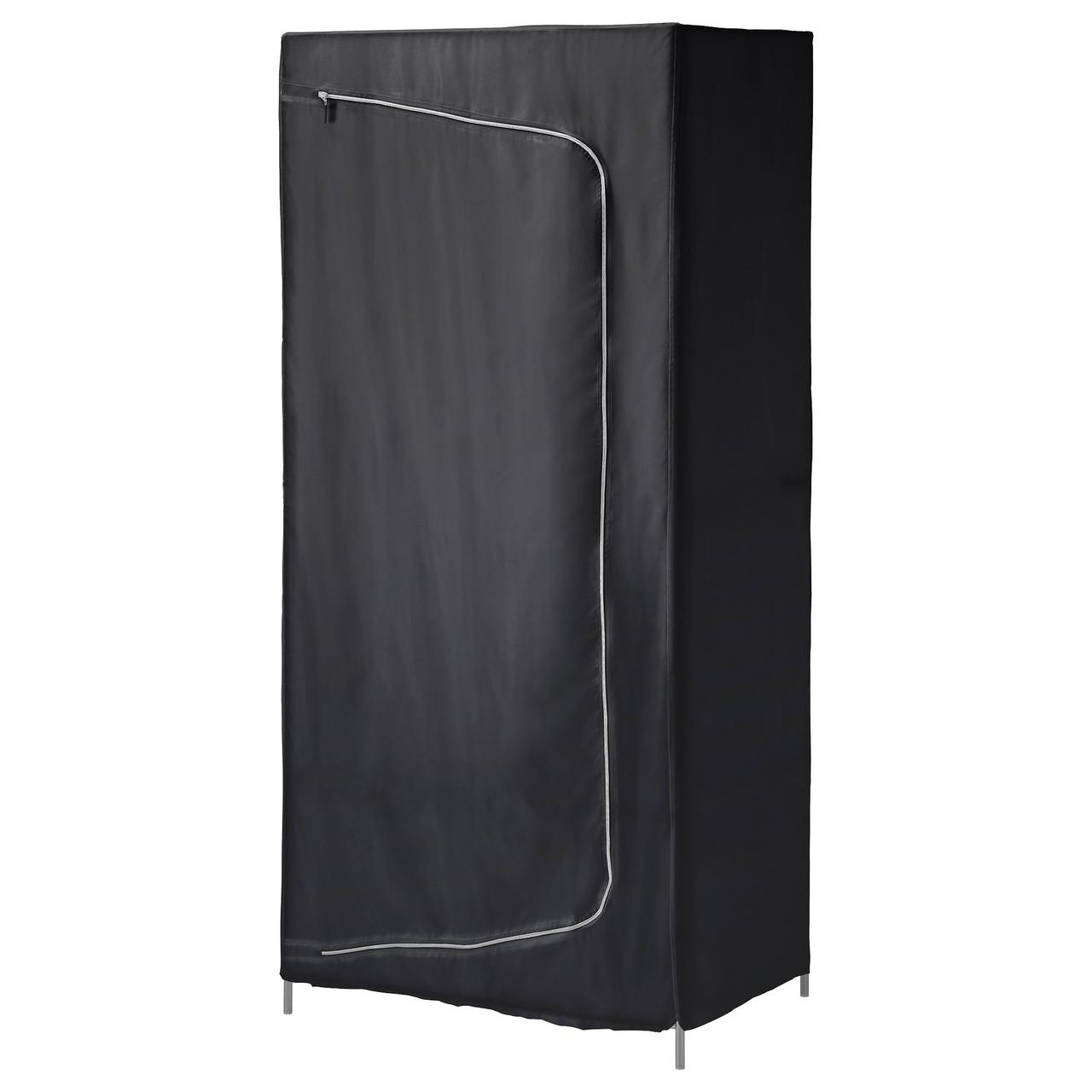 БРЕЙМ Гардероб, черный, 80x55x180 см, 30288953, ИКЕА IKEA, BREIM