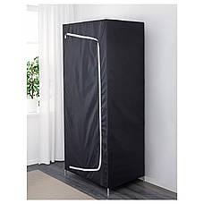 БРЕЙМ Гардероб, черный, 80x55x180 см, 30288953, ИКЕА IKEA, BREIM, фото 3