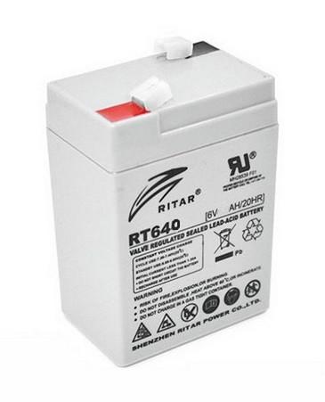 Аккумуляторная батарея Ritar RT640 (6V 4 Ah)