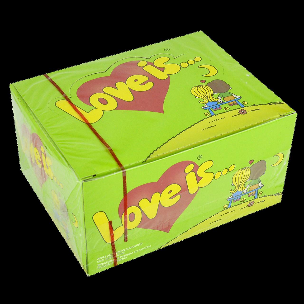 """Жевательная резинка """"Love is"""" 100 шт Яблоко-Лимон"""