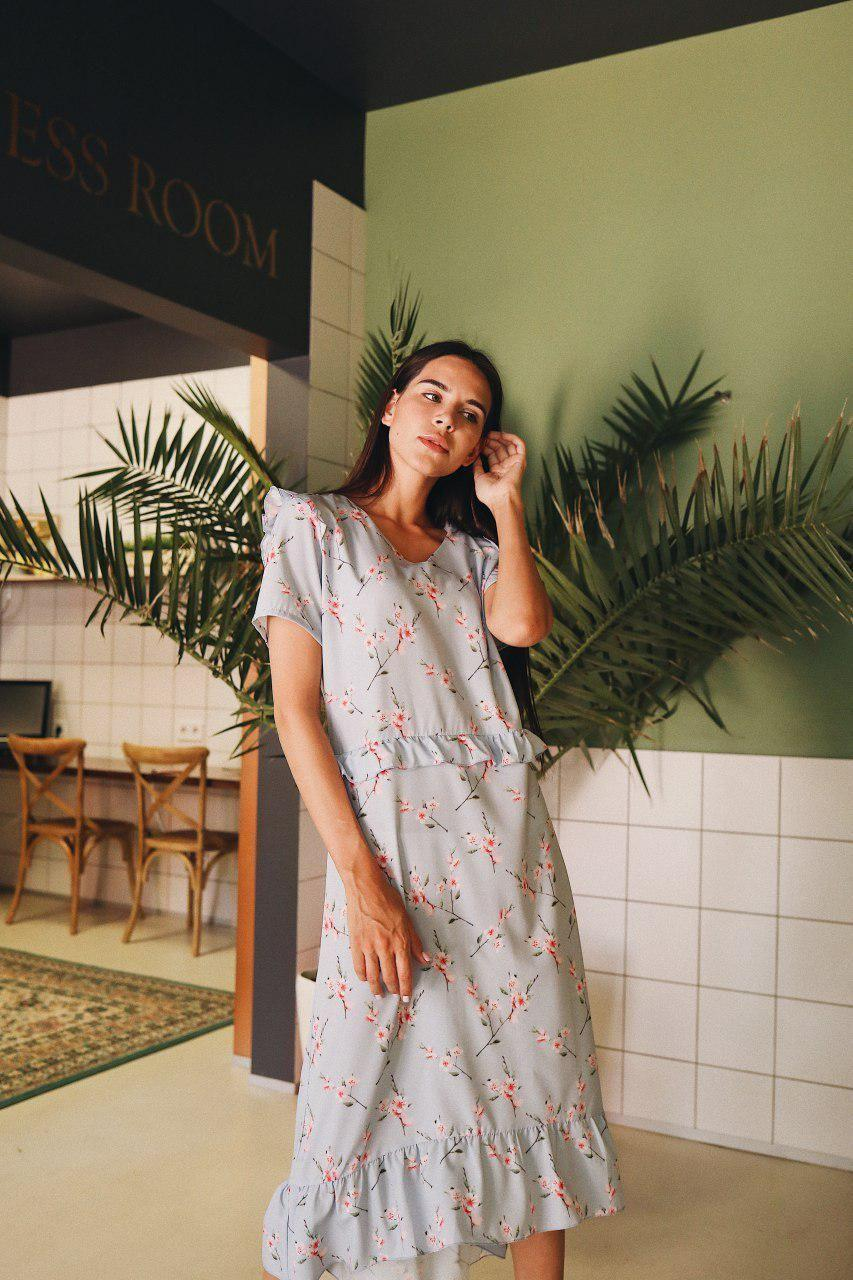 Женское платье с воланами на лето - две расцветки