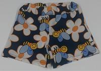Шорти для дівчинки сині, з бджілками
