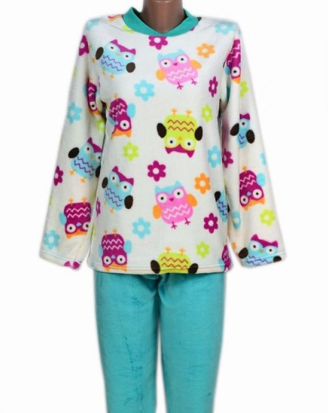 Женская пижама махровая (велсофт) теплая кофта с брюками зимняя