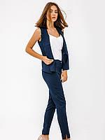 Модный синий костюм, брюки и жилет S M L XL 2XL 3XL 4XL