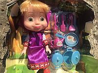 Набор Маша и Медведь с посудкой / набір Маша і Медвідь  Лучшее качество / Кукла с посудкою в коробке