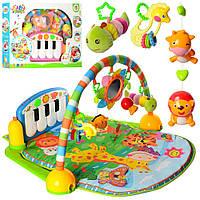 Развивающий коврик для младенца с пианино PA318, 900*600 см, 5 подвесок,музыка, фото 1