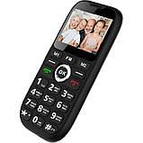 Кнопочный телефон бабушкофон с озвучкой цифр при наборе номера на 2 сим карты Sigma Comfort 50 Grand чёрный, фото 3