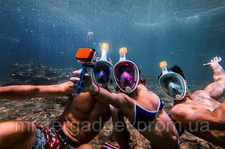 Маска подводная EasyBreath Дайвинг, Снорклинг, фото 2