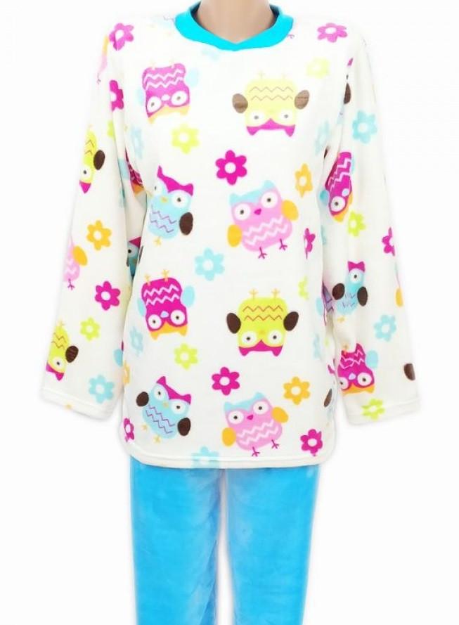 Махровая пижама женская (велсофт) теплая кофта с брюками зимняя