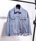 Куртка джинсовая на спине с надписью нашивкой, фото 6
