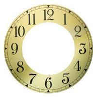 Циферблат для часов металлический арабский, внешний диаметр 188 мм