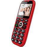 Кнопочный телефон бабушкофон на 2 сим карты с фонариком Sigma Comfort 50 Grand красный, фото 3