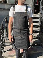 Фартук ( передник ) официанта , бармен  джинсовый черного цвета, фото 7
