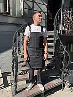 Фартук ( передник ) официанта , бармен  джинсовый черного цвета, фото 5