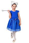 Яркое синее платье для девочки