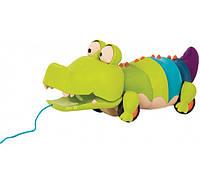 Игрушка-каталка на веревочке Крокодил клац клаус Battat