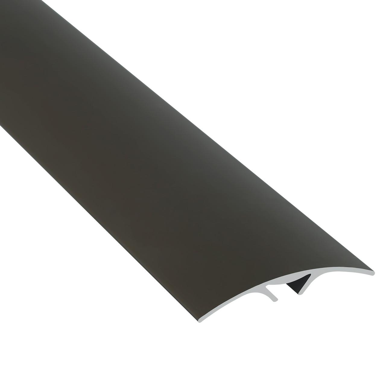 Алюминиевый профиль одноуровневый гладкий анодированный (скрытая система крепления) 40мм х 2.7 м бронза