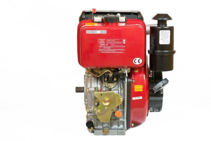 Двигатель дизельный BULAT BT186F (вал шлицы), 418cc/диз 9,5л.с., ручной старт, датчик давления масла