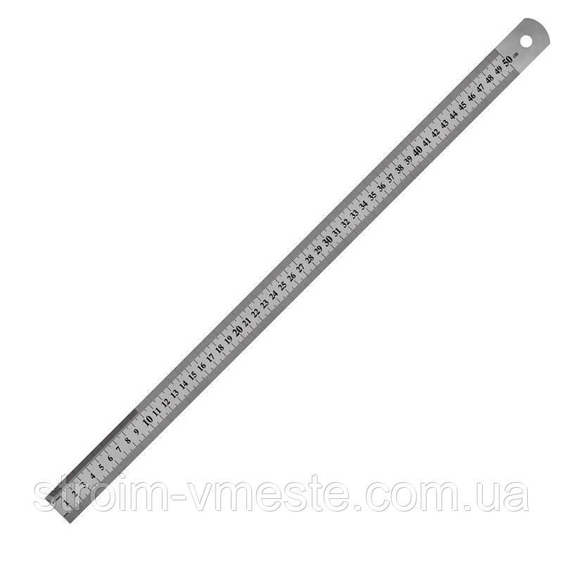 7750-АЛинейка стальная, 50 смAXENT
