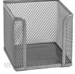 Бокс для бумаги AXENT 2112-03-A 100 х 100 х 100 мм металл серебро