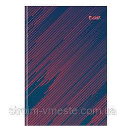 8423 Книга канцелярская А4 Diagonal, 192л., клет., красн.AXENT
