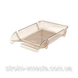 Лоток для бумаги горизонтальный DELTA/AXENT D4001 дымчатый