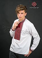 Чол. сорочка, нашивка ткана, напівльон, 52
