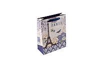 Пакет подарочный M Paris фиол. 19,6*24,5*8,8 см