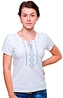 Футболка жіноча з вишивкою S біл. Орнамент