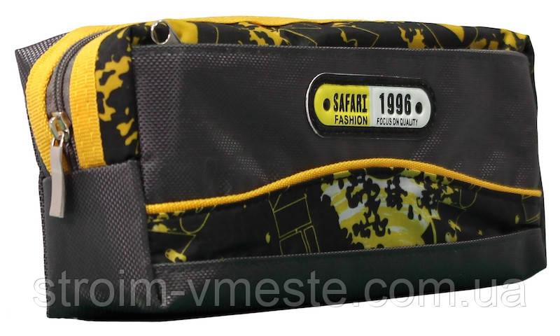 Пенал-кошелек с карманом 20*9*5.5см PL цв ассорти 18028 SAF