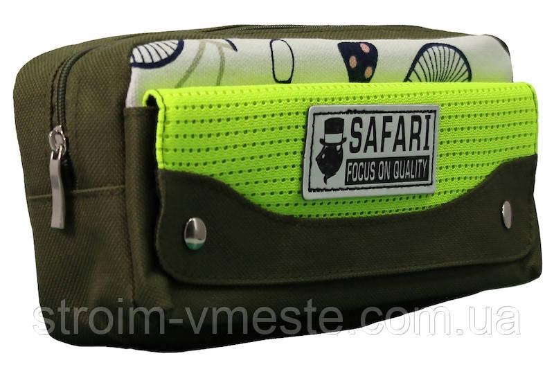 Пенал-кошелек с карманом 21*9*6см PL цв ассорти 18025 SAF