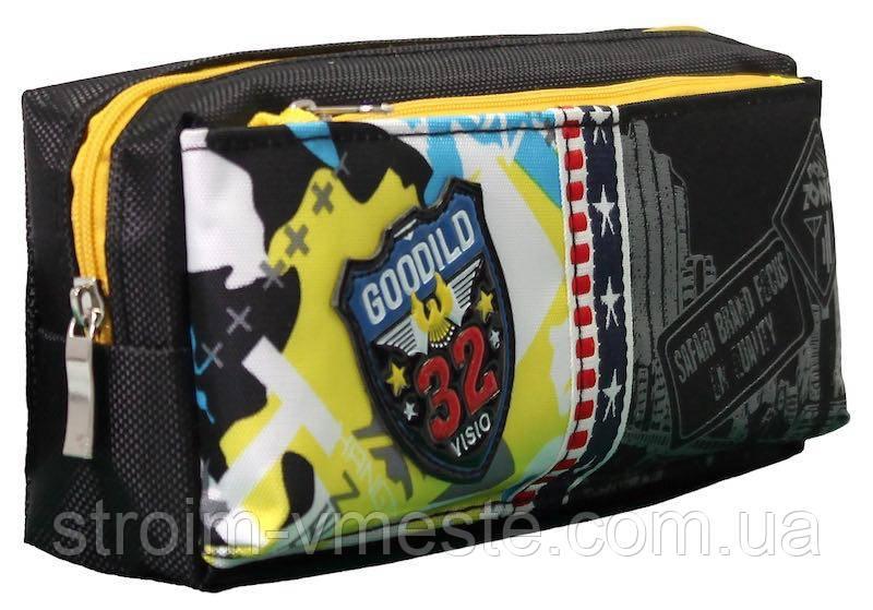 Пенал-кошелек с карманом 20*9*6см PL цв ассорти 18023 SAF