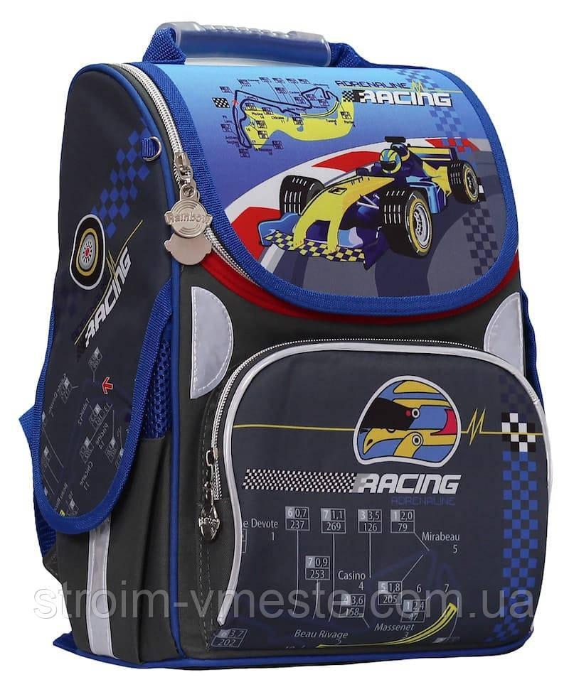 Ранец «Racing» 2 отд 34*26*13см 300D PL RAINBOW 8-515