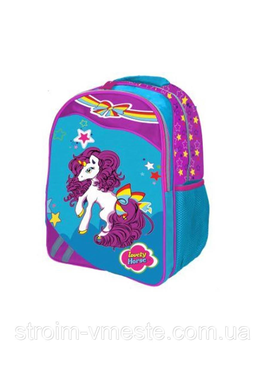 Ранец-рюкзак 2 отд 38*28*18см Jacuard PL RAINBOW 8-520