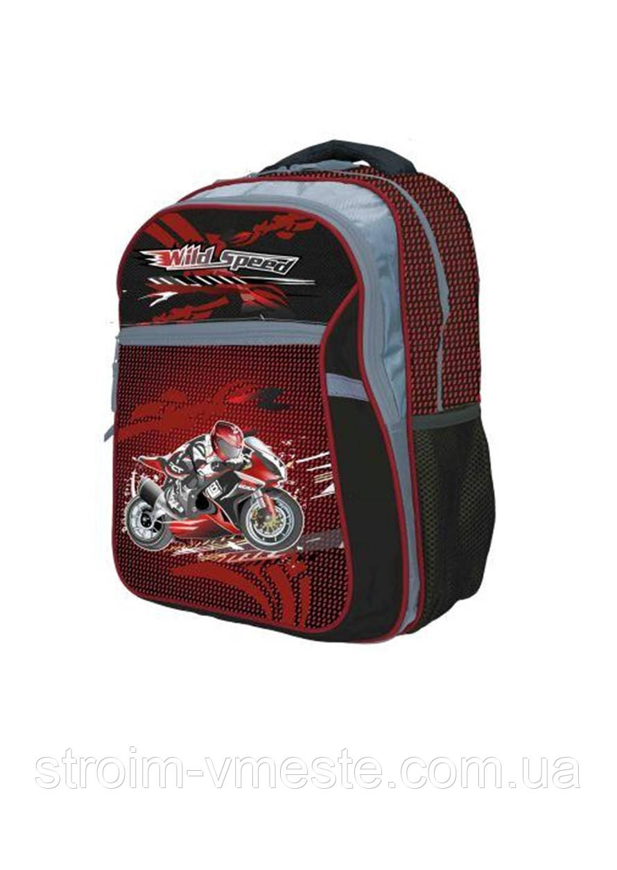 Ранец-рюкзак 2 отд 38*28*18см Jacuard PL RAINBOW 8-524