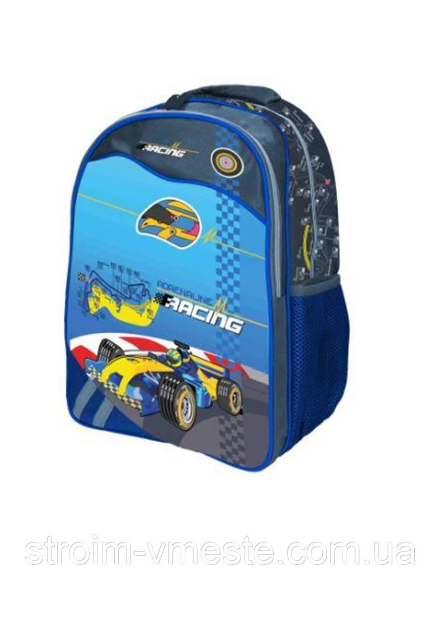 Ранец-рюкзак 2 отд 38*28*18см Jacuard PL RAINBOW 8-526