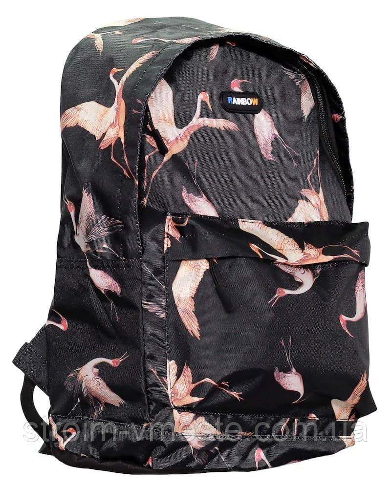 Ранец-рюкзак 2 отд 43*29*20см 300D PL RAINBOW Teens 8-536